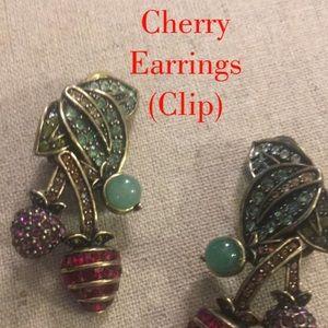 Heidi Daus Pretty Cherry Dangle Earrings
